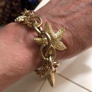 Lilly Pulitzer Shell Charm Bracelet.